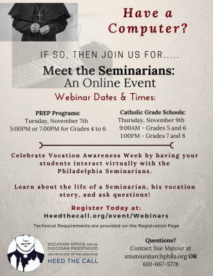 Meet the Seminarian Webinar